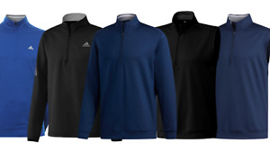 adidas Mens Classic Club 1/4 Zip Golf Tops Navy/Black Sweatshirt / Vest FREEPOST