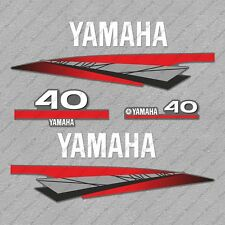 Yamaha 40 HP Two 2 Stroke Outboard Engine Decals Sticker Set reproduction 40HP