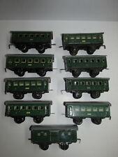 IN Set Old Sheet Metal Steam Locomotive + 9 Passenger Car Karl Bub Gauge S