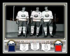 MARTIN-PERREAULT-ROBERT BUFFALO SABRES FRENCH CONNECTION 11X14 W/ 2 AUD SEAT