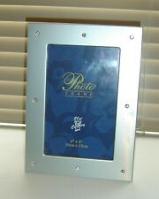 """21ST CENTURY 6"""" x 4"""" PHOTO STAND FRAME WITH CHROME AND GEM SURROUND"""