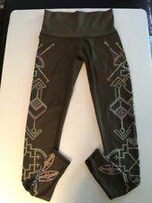 Teeki Seven Crowns Olive Green Hot Yoga  Pants/Leggings.  Size X-SMALL