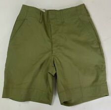 "Vintage Boy Scouts Of America Boys Shorts Green Talon Zip 24"" Waist"