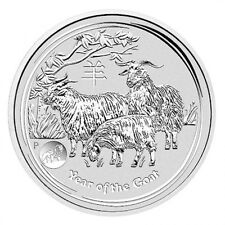 2015 Australian Perth Mint Lunar Goat with Lion Privy 1oz .999 Silver Coin