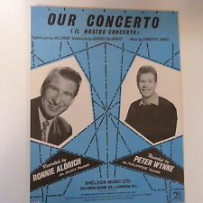 song sheet OUR CONCERTO Ronnie Aldrich, Peter Wynne 1960