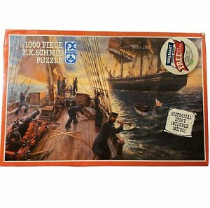Vintage 1000 Piece Jigsaw Puzzle Inspection of a Merchant Ship New Sealed 1989