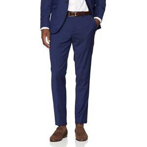 selected homme Mens Blue Trousers Size 42 R Slim Fit Suit Formal Work Designer