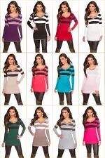 Damen Feinstrick Pullover Pulli Sweater Streifen Ringel Büro Party Mode S 34 36