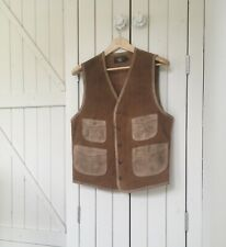 RRL Ralph Lauren Italian Oil Roughout Suede Leather Vest Jacket - M - RRP $1400