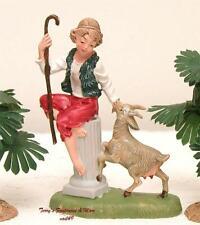 """Fontanini Depose Italy 4"""" Color Series Marcello w/Goat Nativity Village Figure"""