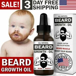 Beard Growth Oil Serum Fast Growing Beard Mustache Facial Hair Grooming for Men