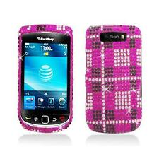 Pink Diamond Snap-On Case Cover with Plad Design for Blackberry Torch 9800 9810