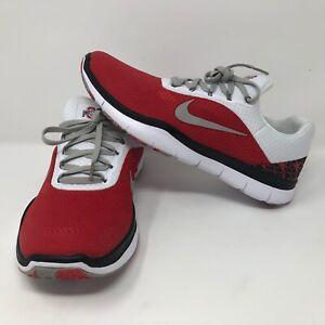 NWOB Nike Men's Ohio State Buckeyes Shoes Sz 8.5 Free Trainer Zero Red White