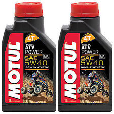 MOTUL ATV POWER 4T 5W-40 100% SINTETICO OLIO MOTORE 2 LT per QUAD ATV POLARIS