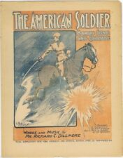 The American Soldier March Song, newspaper supplement sheet music, 1905