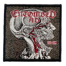 Entombed Ad WOVEN PATCH Dead Dawn - SEW-ON - Swedish death metal rare
