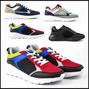 Scarpe Uomo Sneakers Sportive da Ginnastica in Tela Casual Nere Estive 42 43 44
