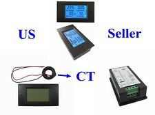 AC 80-260V 110V 220V LCD Digital Volt Watt Power Meter Ammeter Voltmeter + CT
