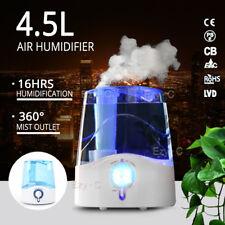 4.5L Air Humidifier Ultrasonic Cool Mist Steam Nebuliser Diffuser Purifier
