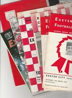 Exeter City home programmes 1959 onwards