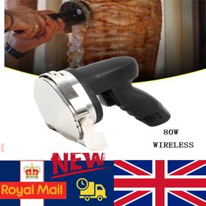 Cordless 80W Electric Kebab Doner Meat Slicer Kebab Wheel Blade Disc Cutter