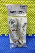 VINTAGE New Unused Alpine Brand Snowshoe Bindings Women's Model A Gray