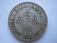 Hong Kong 1894 silver 20 Cents, VF.