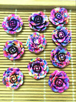 NEW 10pcs Resin Rose Flower flatback Appliques For phone/wedding/crafts ML2A@2