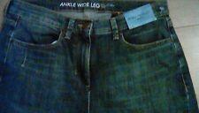 Ladies Next denim jeans wide ankle high rise  size 10 petite bnwt