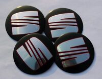 Seat Wheel Center Cap Badge 90mm Set of 4 Ibiza Leon Cupra Alhambra Toledo Altea