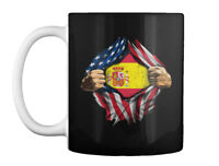 America Spain Flag Gift Coffee Mug