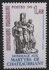 FRANCE 1981 WWII Martyrs of Chateaubriant. Set of 1. Mint Never Hinged. SG2443.