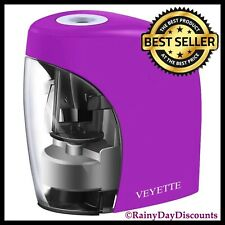 Electric Pencil Sharpener Battery Amp Usb Operated Kids School Office Home Purple