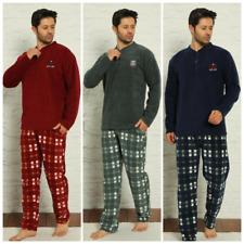 Herren Pyjama POLAR Schlafanzug Lang 2-Teiler Set Warm S-01