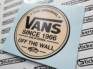 2 X VANS OFF THE WALL CALIFORNIA 1966 STICKERS