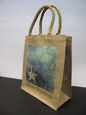 2 x m toile de jute sac avec Starfish modèle L30 x W35 x D13 am286