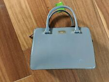 NWT Kate Spade Lise Bixby place Patent Leather Satchel handbag HARE GRAY SILVER