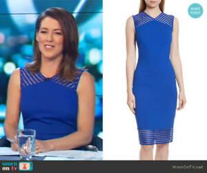 Ted Baker London Lucette Mesh Detail Body Con Dress 549$ SIZE 2 S