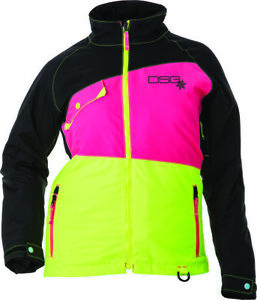 DIVAS VERGE JACKET BLACK/PINK/YELLOW XS