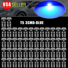 50x Pure Blue T5 3014-LED 74 17 18 Dash Speedometer Gauge Cluster Light Bulbs
