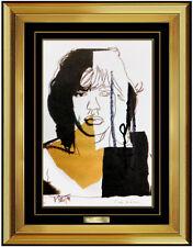 Andy Warhol Original Color Lithograph Hand Signed Mick Jagger Portrait Pop Art
