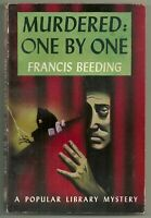Murdered: One By One by Francis Beeding (1944 Popular Library #42, Hoffman art)