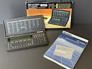 SHARP PC E500S POCKET TASCHEN COMPUTER 256 KB IN OVP NUTZERHANDBUCH FUNKTION OK