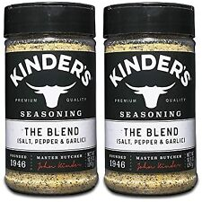 Kinder's Seasoning The Blend Isalt, Pepper & Garlic 10.5 oz 2 Pack