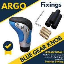 Chrome Blue Leather Gear Knob Stick Shifter Manual Car Van Leaver Selector Shift