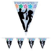 6M DISCO FEVER FLAG BANNER BUNTING PARTY HANGING DECORATION DANCERS 70'S 80'S