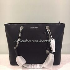 NWT Michael Kors Studio Mercer Chain Top Zip Multifunction  Tote Black