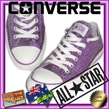 Converse Canvas Shoes New without box Purple glitter sparkle size US 5.5 AUS 7