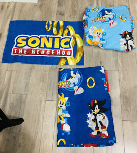 Vintage Sonic The Hedgehog Twin Fitted Flat 1 Pillowcase