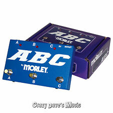 Morley ABC 3 Channel Selector Combiner Pedal Switch